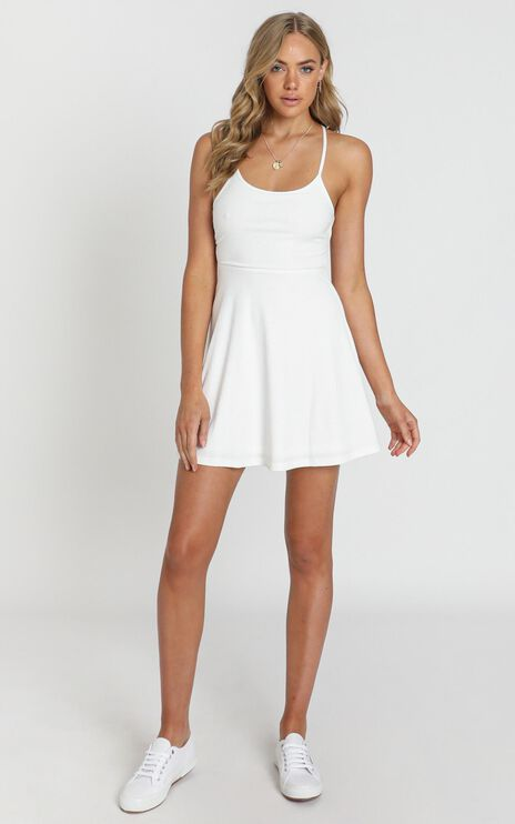 Authenticity Dress in White Rib