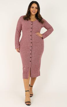 By The Bonfire Dress In Wine Marle