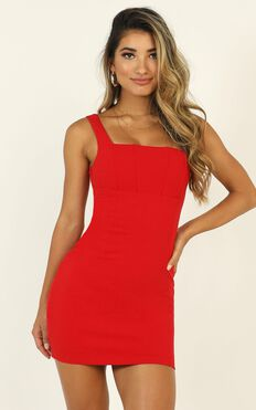 Glowing Embers Dress In Red