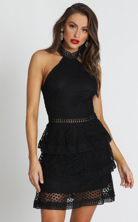 Miami Night Dress In Black Lace