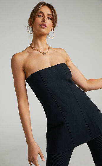 Lioness - Anderson Strapless Top in Black