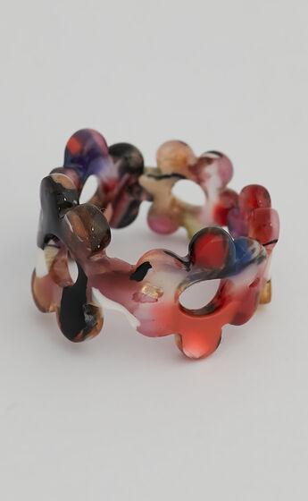 Trixie Flower Ring in Purple Multi