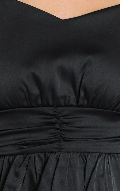 Meila Matt Satin Top in Black - 6 (XS), Black, hi-res image number null