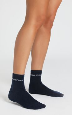 Superga - 3 Pack Cotton Crew Socks In White, Grey, Ash