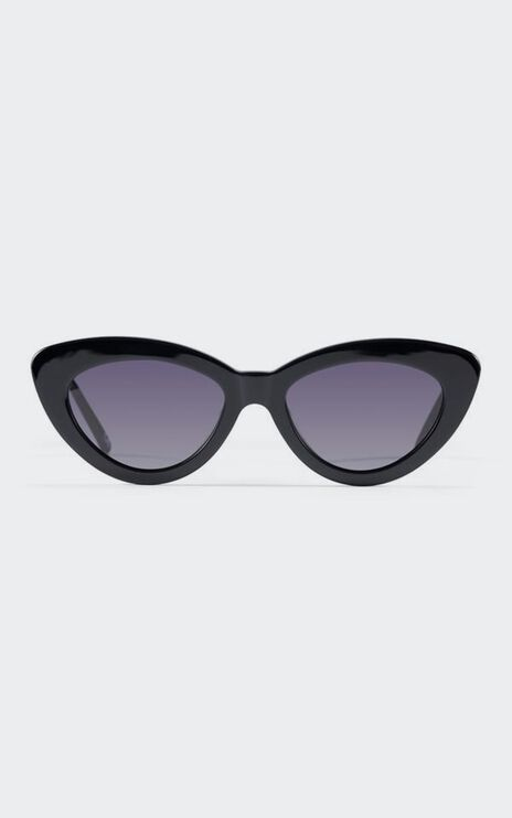 Luv Lou - The Harley Sunglasses in Jet Black