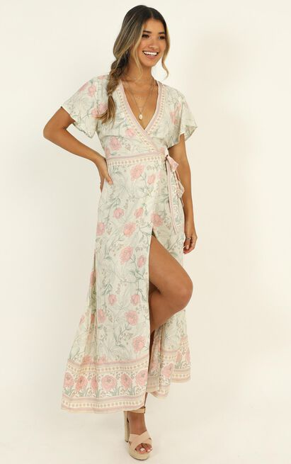 Byron Bound Dress in green print - 14 (XL), Green, hi-res image number null