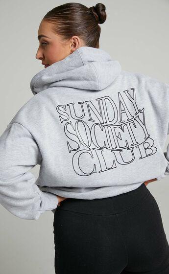 Sunday Society Club - Ana Hoodie in Grey Marle