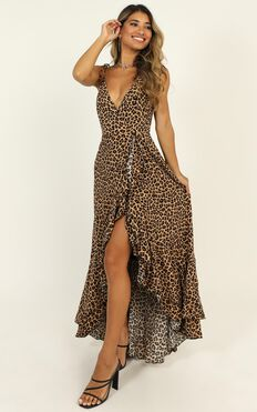 Get A Grip Dress In Leopard Print