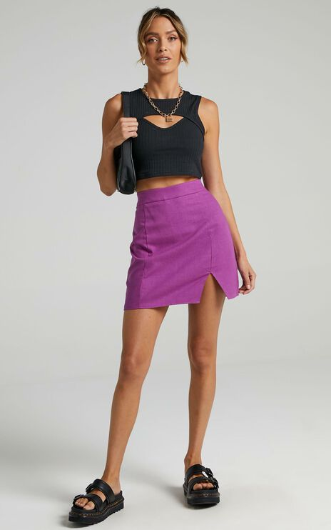 International babe skirt in Dark Orchid