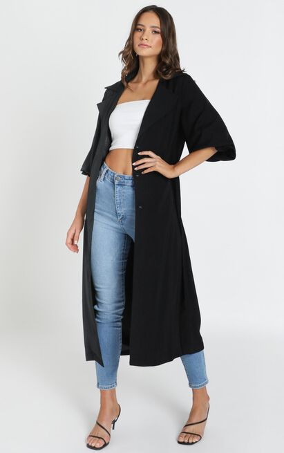 Catching on Trench Coat in black - 14 (XL), Black, hi-res image number null