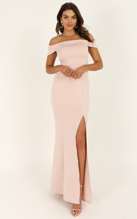We Got This Feeling Dress In Blush