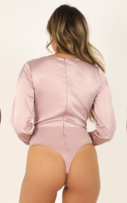 Ive Got You Bodysuit in blush satin - 12 (L), Blush, hi-res image number null