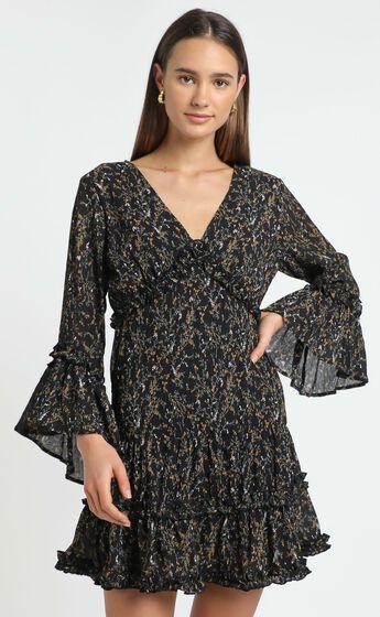 Fool In Love Dress in Black Floral