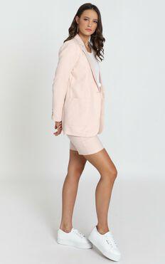 Nemi Linen Blazer In Pale Pink