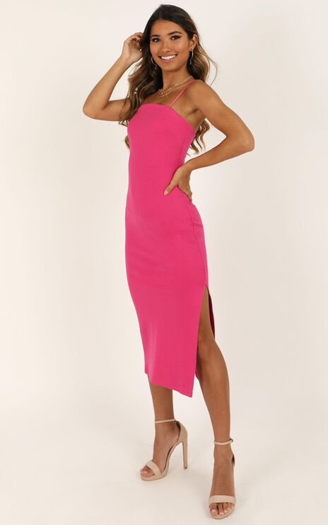 All For Fun Dress In Hot Pink