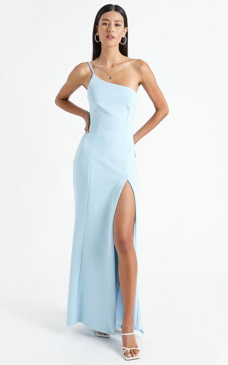 No Ones Fault Dress In Light Blue