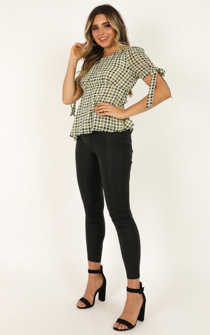 Cant Handle You Top  In emerald check - 20 (XXXXL), Green, hi-res image number null
