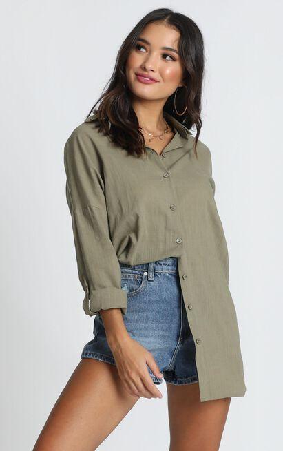 Chesney Shirt in khaki - 14 (XL), Khaki, hi-res image number null