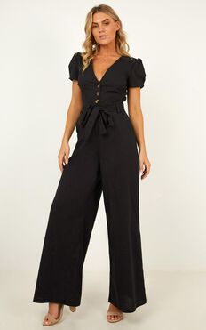 Skim The Surface Jumpsuit In Black