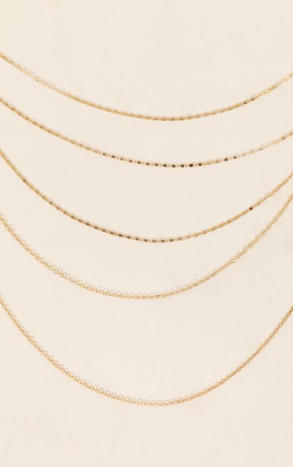 Shoulda Known Better Layered Necklace In Gold, , hi-res image number null