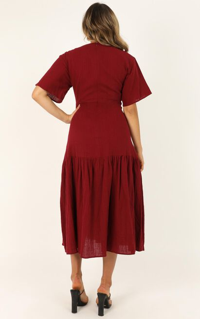 Main Attraction Dress in wine - 20 (XXXXL), Wine, hi-res image number null
