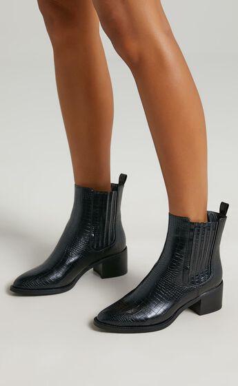 Billini - Eamon Boots in Black Croc
