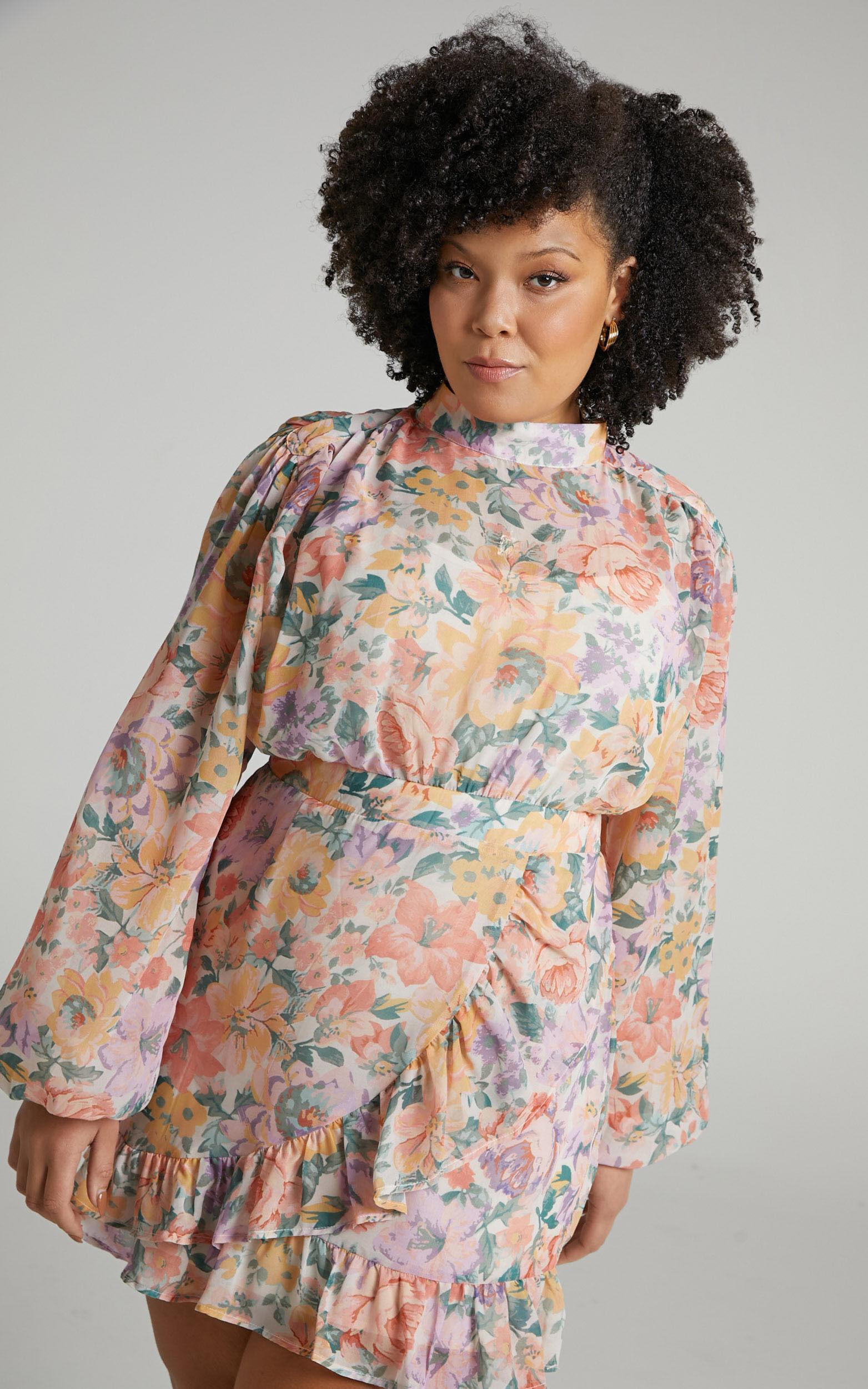 Tiahna Dress in Flower Crown - 04, BRN1, super-hi-res image number null