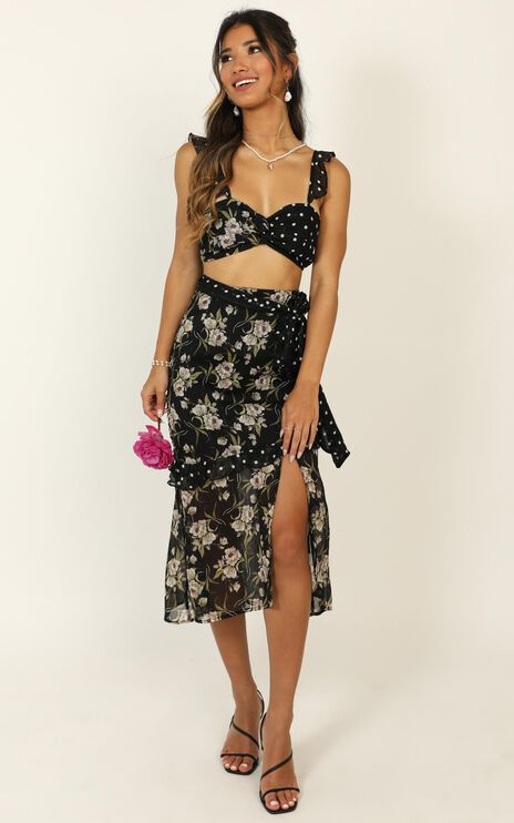 Take My Picture Dress in Black Floral