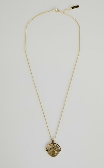 Izoa - Rhaella Pendant Necklace in Gold