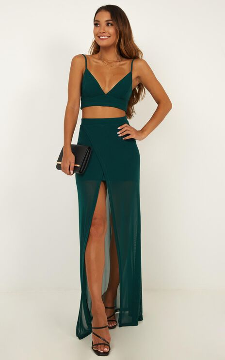 Body Language Two Piece Set In Emerald