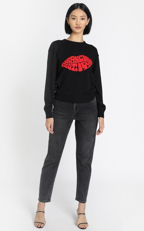 Wrangler - Lips Sweater in Black