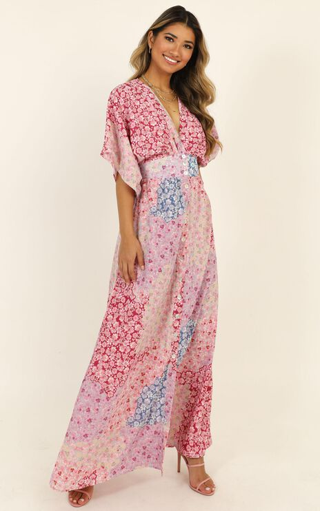 Sitting Pretty Dress In Pink Floral