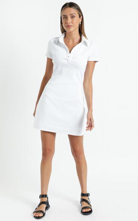 Leros Dress in White