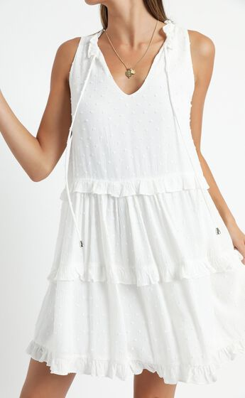 Weekend Away Mini Dress In White