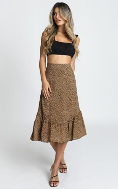 Wild Life Skirt In Leopard