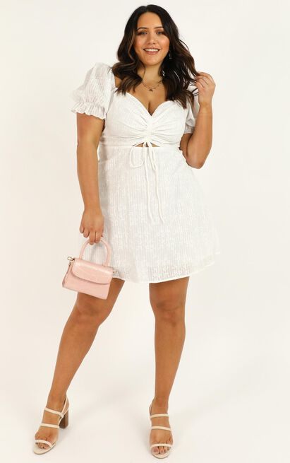 Soft Mention dress in white floral - 20 (XXXXL), White, hi-res image number null