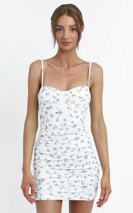 Whitaker Dress in White Floral