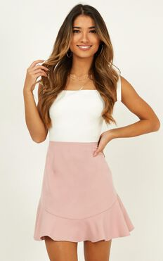 Sweet Calm Skirt In Blush