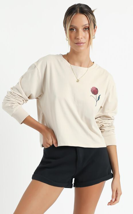 Cools Club - Cove Sunday Longsleeve Tee in Cashew