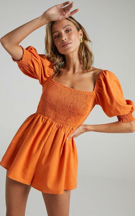 Take Action Playsuit in Orange