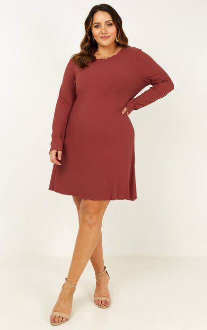 Feeling New Dress in dusty rose - 20 (XXXXL), Pink, hi-res image number null