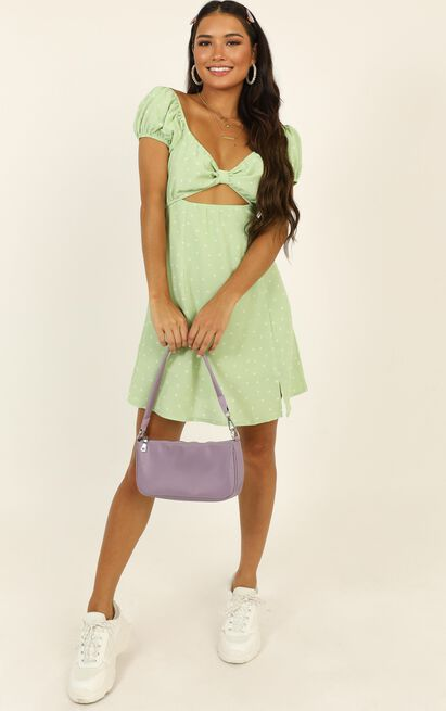 Next Flight Out dress in green spot - 16 (XXL), Green, hi-res image number null