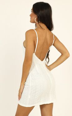 The Day I Fell In Love Dress In White Lace
