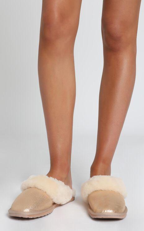 EMU Australia - Jolie Metallic Slippers in Rose Gold