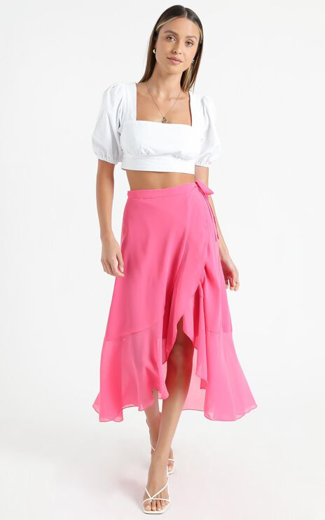 Add To The Mix Skirt in Hot Pink