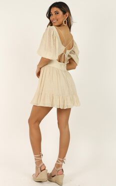 These Are The Days We Will Never Forget Dress In Beige