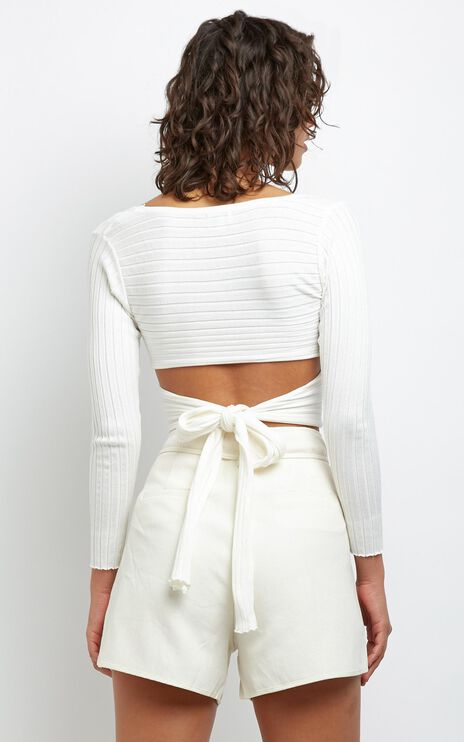 Brennan Knit Top in White