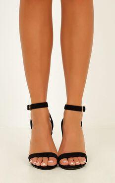 Billini - Nikaia Heels In Black Micro