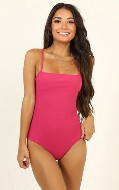 Go Get Em Bodysuit In Hot Pink