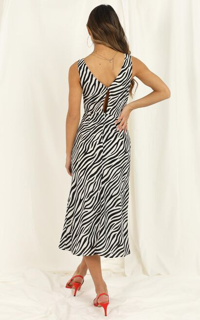 Find Your Feet dress in zebra stripe - 12 (L), White, hi-res image number null